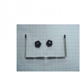 Kit de montage mur inox